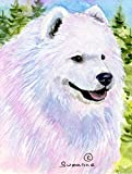 Caroline's Treasures SS8755CHF Samoyed Flag Canvas, Large, Multicolor Review