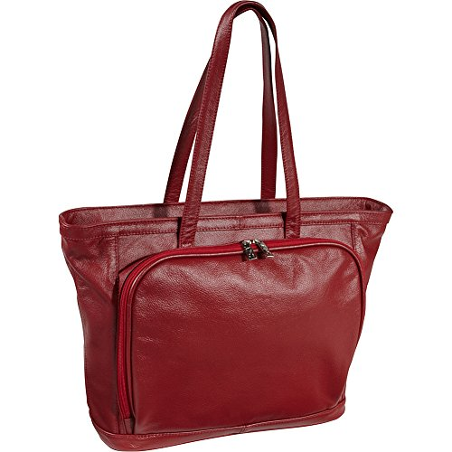 AmeriLeather Cosmopolitan Leather Tote (Red)