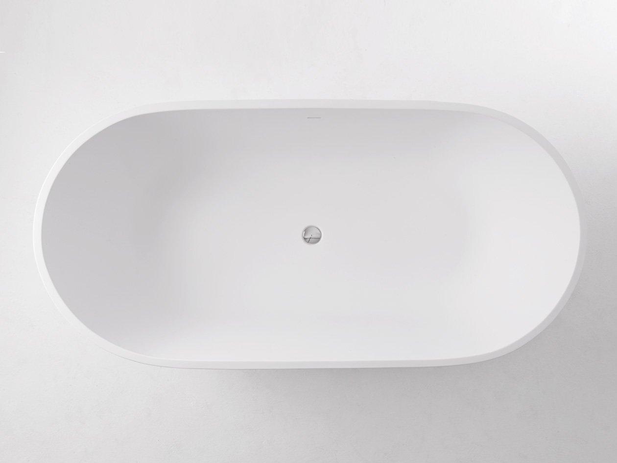 Freistehende Badewanne Pearl Mineralguß 178 x 90 mit Clic Clac ... | {Freistehende badewanne eckig mineralguss 77}