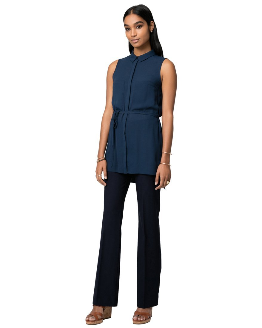 LE CHÂTEAU Women's Belted Utility Tunic,M,Navy