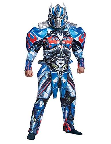 Disguise Men's Plus Size Optimus Prime Movie Deluxe Adult Costume, Blue, XX-Large