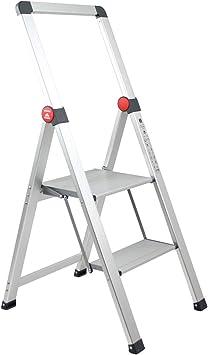 Brigros - Escalera plana para uso doméstico, escaleras de revolución de escaleras, de aluminio, superligera, ultra plana, fácil de almacenar y transportar, no ocupa espacio, NCLPO01WB-XXL: Amazon.es: Bricolaje y herramientas
