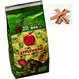 Charcoal briquette oak wood with applewood splinter Includes free natural fire starter sticks (Ocote) (2 pack 13.2 lb)