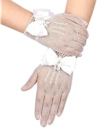 Girls Princess Gloves Girls Wedding Dress Glove Costume Accessory Lace Diamond Performance Photography Birthday Gift Gloves & Mittens
