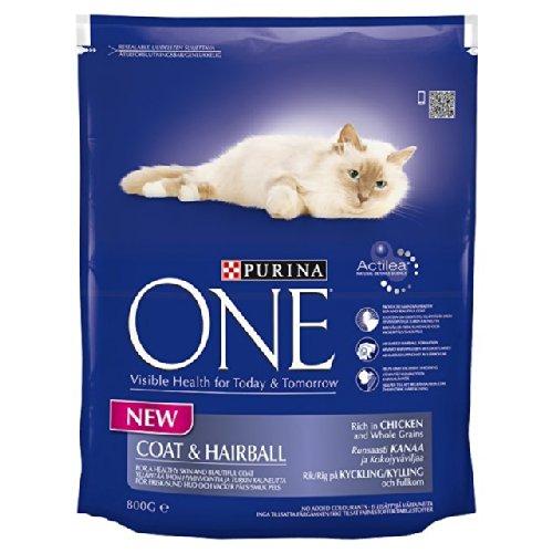 Purina One Coat & Hairball - Comida para gatos (pollo y trigo, ...