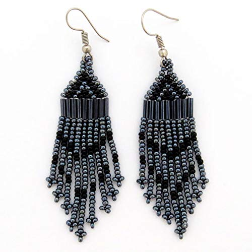 African Zulu beaded earrings - Chandelier NEW DESIGN - Night collection - Gift for her
