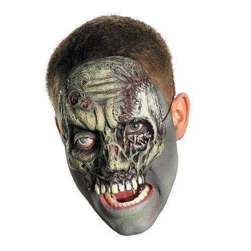 Chinless Dark Skull Adult Vinyl Mask - Disguise Costumes Chinless Walking Zombie Vinyl
