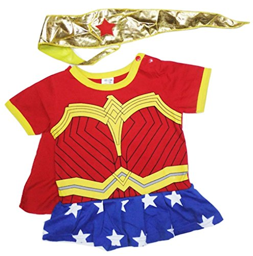 Wonder Woman Costume 22 (LC Boutique Baby Girl Wonder Woman Superhero Romper Costume for ages 3 Months to 3T.)