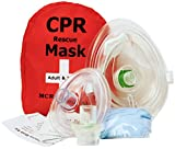 Pack of 10 Adult & Infant CPR Mask Combo Kit with 2 Valves, MCR Medical
