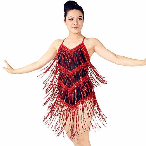 [MiDee Latin Dress Latin American Dance Dresses Baile Dance Wear Sequin Fringe Costume Ballroom Dancing Dresses (MA,] (Dance Costumes Ma)