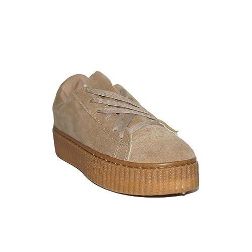 PRIMAR Shoes - ILENIA Goma Alta 22001 Zapatillas Urbanas para Mujer Rosa Camel Plataforma Casual Moda Económicas: Amazon.es: Zapatos y complementos