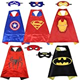 Kids Superhero Capes and Masks Dress Up Costume for Girls Boys Superhero Birthday Party Favors,