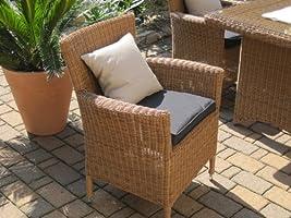 Bomey Juego de Muebles de Jardín de Ratán (6 butacas, 1 Mesa), Color Beis y Marrón: Amazon.es: Jardín