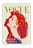 andys masters - Pacifica Island Art Vogue Paris Magazine Cover - Princess Caroline of Monaco by Andy Warhol - Vintage Magazine Cover by Andy Warhol c.1984 - Master Art Print - 13in x 19in