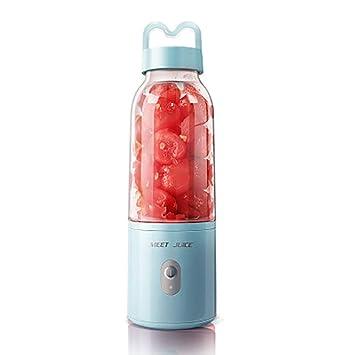 Mini Juice Cup Dormitorio Estudiantil Leche De Soja Complemento Alimenticio De Frutas Hogar Completamente Eléctrico Exprimidor Multifuncional Mini,Blue: ...