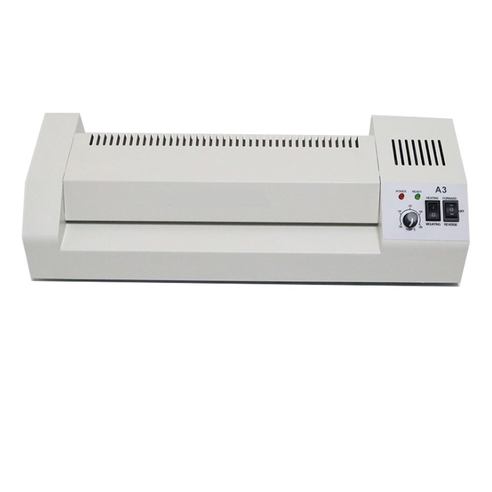 BAOSHISHAN Thermal Laminator A3//A4 Film Laminating Machine with Four Roller System Hot/&Cold Fast Warm-Up Reverse Function 220V