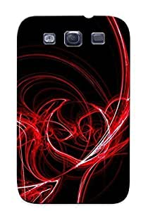 96915086576 Tpu Case Skin Protector For Galaxy S3 Red Luminescent Lines With Nice Appearance For Lovers Gifts
