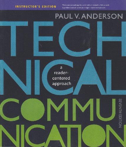 Technical communication : a reader-centered approach