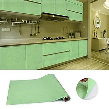 KINLO® Folie Küche Grün Dekofolie 2 St. 500x61cm mit Linie ...