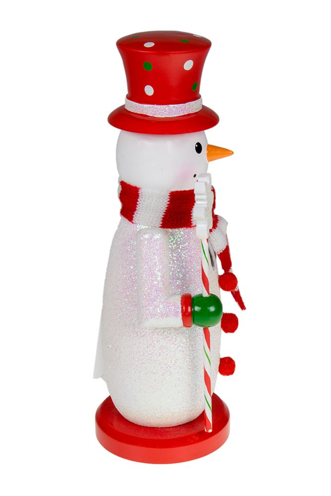 c4015f726 Clever Creations Traditional Snowman Wooden Nutcracker Decoration Red,  White, and Green with Hat, Scarf, and Scepter | Premium Festive Christmas  Decor | 10