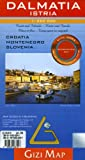 Dalmatia/Istra Geographical Gizi Map (Croatia, Montenegro, Slovenia Coast) (English, French, Italian, German and Russian Edition)