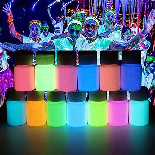 luminosa Azul Pintura luminosa de alto brillo Pintura impermeable a base de agua en polvo a prueba de agua fluorescente luminosa