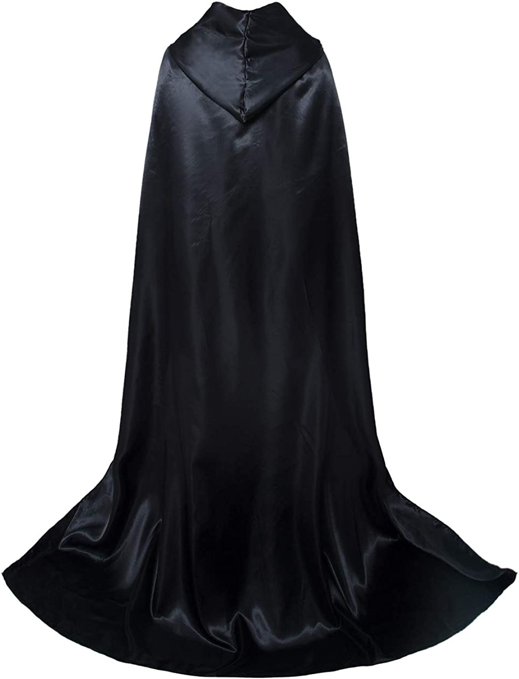 Aricy Unisex Full Length Hooded Cape Halloween Role Play Cloak Costume A004BXXL Black