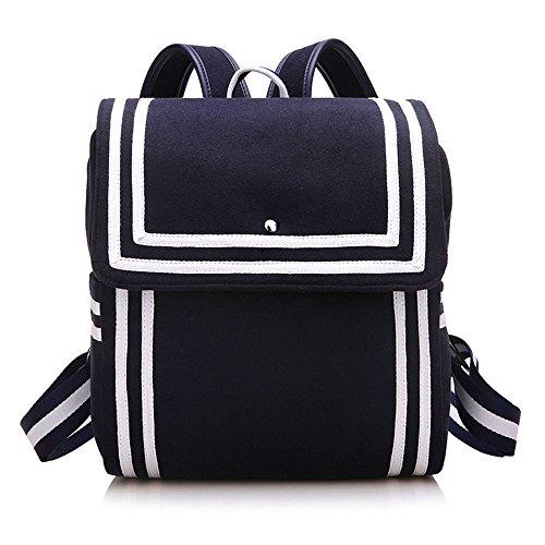 Épaule Sac Nylon Meaeo Vent Du Navy À Nouveau De À Dos Voyage Black Bandoulière De Coréen L'École Sac Blue Double Backpack wxqqX051Tr