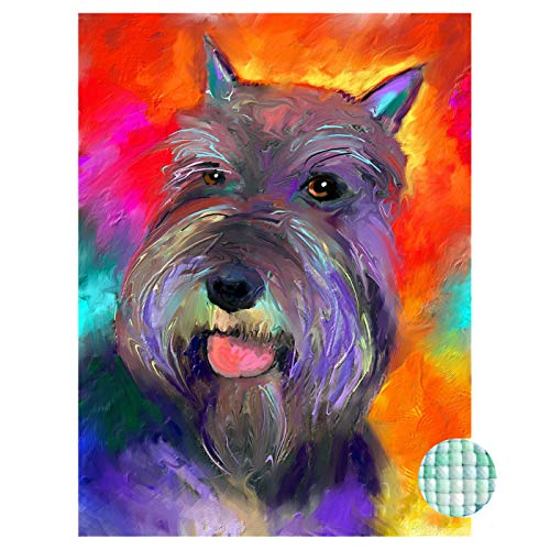 (LIPHISFUN Diamond Painting Kits for Adults Full Drill Square Resin Rhinestone Embroidery Unfinished Cross Stitch Home Decor Gift Schnauzer)