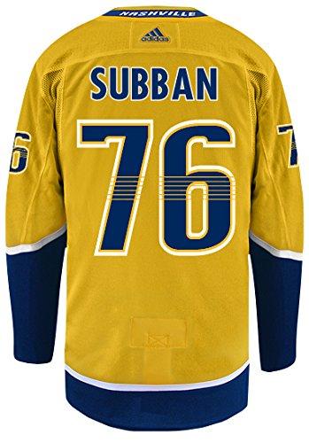 PK Subban Nashville Predators Adidas NHL Men's Authentic Yellow Hockey Jersey