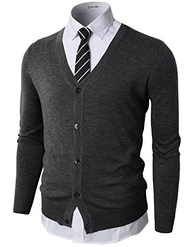 H2H Casual Knitted Designed Cardigan
