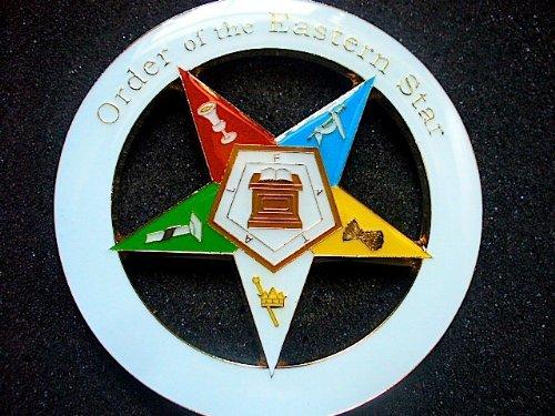 Delux Masonic Sisters Order Of Eastern Star Heavy Alloy Car Emblem