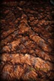 Fur Accents Faux Fur Throw Blanket / Rich Brown Tones 60'' X 70''