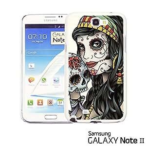 OnlineBestDigital? - Skull Pattern Hardback Case for Samsung Galaxy Note 2 - Lady Holding Sugar Skull