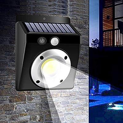 Seasaleshop Luz de Solar LED/Foco LED con COB Sensor de Movimiento Iluminación de Seguridad para Jardín, Patio, Camino, Escalera 123x95x50mm: Amazon.es: Hogar