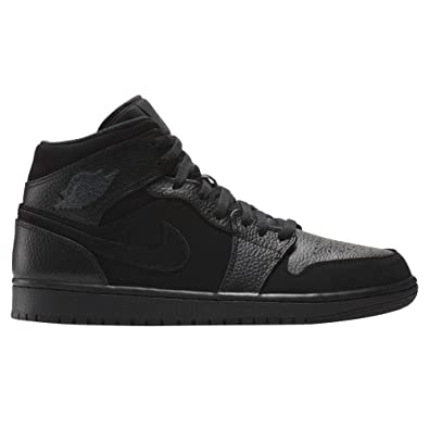 official photos f0e10 3ecd7 Nike Men s Air Jordan 1 Mid Fitness Shoes, Multicolour Dk Smoke Grey Black  064