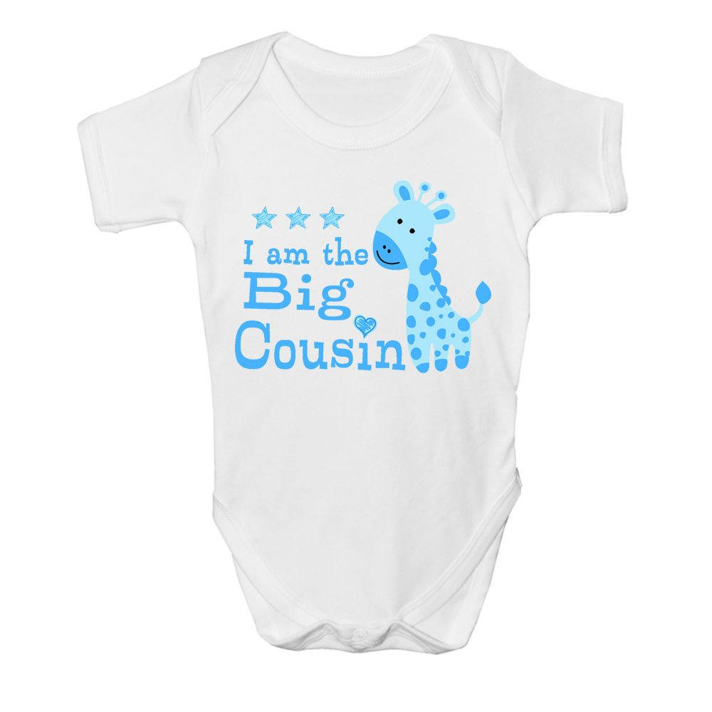 Promini Cute I Am The Little Cousin Cotton Baby Bodysuit Baby Onises