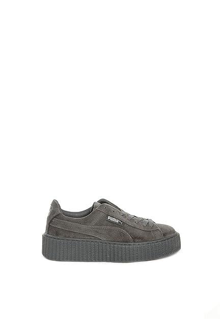 PUMA zapatillas modelo Creeper Velvet Gris (36)