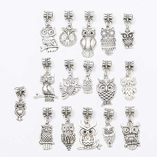 Charms Antique Silver DIY Crafts Jewelry Making Owl Jewelry Pendant Alloy