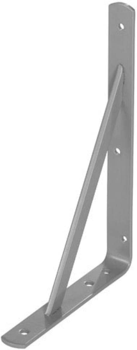 WOLFPACK LINEA PROFESIONAL 21080035 Palomilla Wolfpack Con Refuerzo Gris 400x270 mm