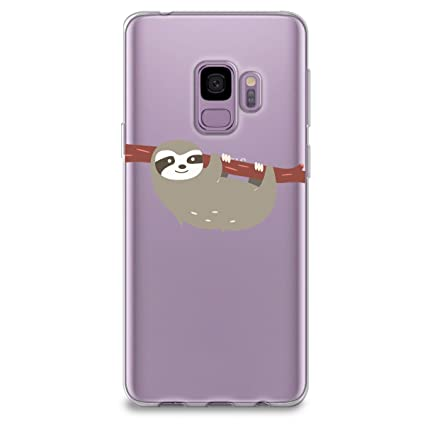 online store 5bf43 8c129 Amazon.com: CasesByLorraine Samsung S9 Case, Cute Sloth Clear ...