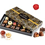 Belgian chocolate box – traditional assortment of dark chocolate, truffles and creamy pralines. Dupont chocolatier – perfect chocolate birthday gift or holiday and other occasion ( color variation)