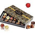 chocolats et truffes belgique - Cadeau Noël ballotin chocolat assortiment Dupont chocolatier.chocolat cadeau Chocolat blanc chocolate noir. pralines, ganache cadeau d'anniversaire chocolat bonbons