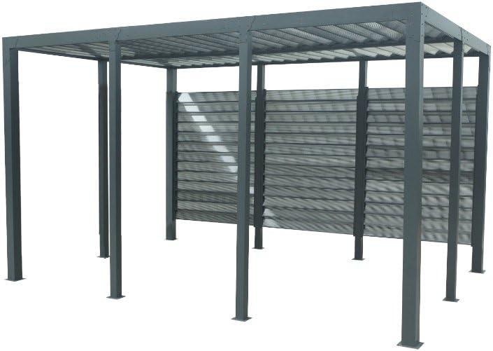 habrita – habrita – Carport aluminio techo de ventelles: Amazon.es: Bricolaje y herramientas