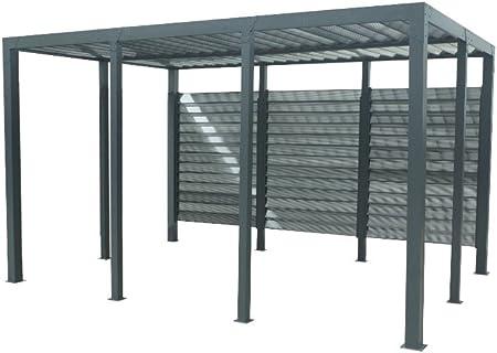 habrita – habrita – Carport aluminio techo de ventelles: Amazon.es ...