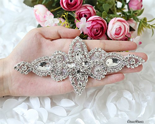 QueenDream Princess Rhinestone Applique Teardrop product image