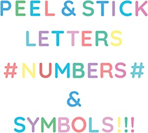 StikArt Removable Peel & Stick Letter Stickers for Walls in Pastel Colors, 1-inch H
