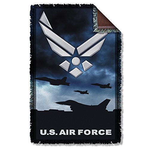 Air Force - Take Off Woven Throw Throw Blanket 35 x 57in