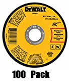 Dewalt DWA8051 Type 1 Small Diameter Cut-Off Wheel, 4-1/2 In Dia X 0.045 In 100 Pack
