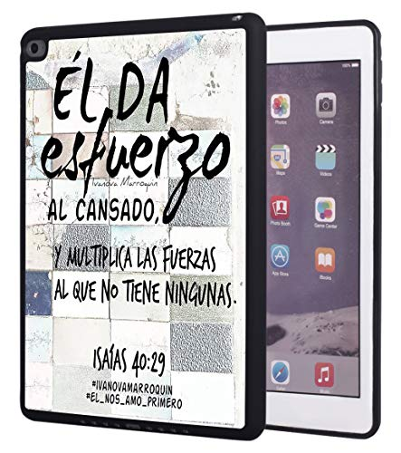 iPad Mini 4 Case,Bible Verse Quotes Isaias 40:29 Design Impact Resistant Anti-Scratch TPU Rubber Protective Case Cover for Apple iPad Mini 4 (7.9 inch)